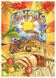 ✯ Lammas ✯ ☙ Celtic Wheel of the Year Sam Symonds illustrator - Card Shop, based in Norfolk ❧ Wiccan, Magick, Witchcraft, Sabbath, Tarot, Celtic Festival, Pagan Art, Seasonal Celebration, Harvest Season