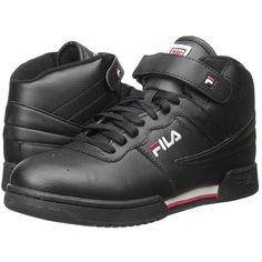 a5799fea94f Fila F-13V Leather Synthetic (Black White Fila Red) Men s