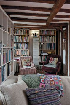 Whatever is lovely cozy library, library room, library design, reading nook Cozy Library, Library Room, Library Design, Future Library, Bookshelves In Bedroom, Bookcases, Cosy Home, Library Inspiration, Book Nooks