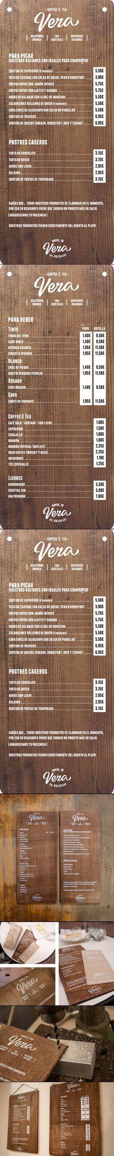 Vera by El Calotipo   Art of the menu