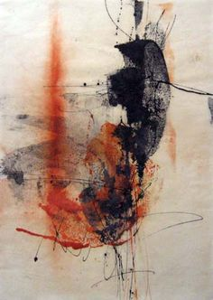 "Yuko Wada | unknow title | sumi, beeswax, pigment on washi, 50""x35"" /sm"