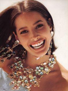 Christy Turlington, Vogue US March 1990 shot by Arthur Elgort
