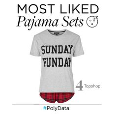 """""""PolyData: #4 Most Liked Pajama Set"""" by polyvore ❤ liked on Polyvore featuring Topshop, pjs and polydata"""