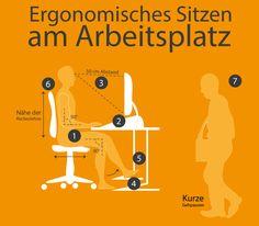 Ergonomisches Sitzen am Arbeitsplatz. So gehts.  #Ergonomie #Arbeitsplatz #Sitzen #Wirbelsäule #Gesunderrücken #Fitundgesund #Arbeiten #Bürositzmöbel #thekenshop
