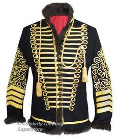 Jimi Hendrix Hussars Military Pelisse Tunic Jacket - $599.99 : Michael Jackson Celebrity Clothing Superstore , The Biggest and Best Michael Jackson Clothing Store Available Online