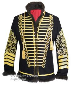 Jimi Hendrix Hussars Military Pelisse Tunic Jacket - $599.99 : Michael Jackson Celebrity Clothing Superstore , The Biggest and Best Michael Jackson Clothing Store Available Online