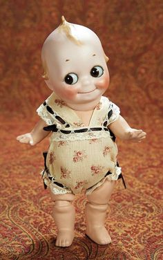 A vintage Kewpie doll Belle Epoque, Doll Toys, Baby Dolls, Kitsch, German Toys, Bisque Doll, Old Dolls, Child Doll, Dollhouse Dolls
