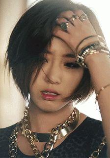 Love her hair <3 Eunjung T-ara Number Nine