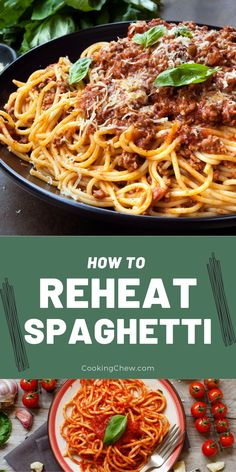 Reheating spaghetti can be quite challenging. If you don't do it the right way, you might end up with a mushy, gooey, and clumped-up mess. Spaghetti can be rather tricky to reheat, and depending on the type, some methods work better than others. For this sole reason, I've listed down the many surefire ways of warming up spaghetti, including reheating spaghetti in the microwave, oven, and stove. Microwave Heating, Microwave Oven, Leftover Spaghetti, Baked Spaghetti, Surefire, Recipe Please, The Dish, Tray Bakes