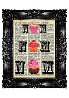 Upcycled Book Dictionary Print Art Prints Vintage Book by nommon, $7.99