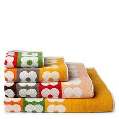 IC348 ~ Selfridges & Co., ORLA KIELY Multi flower stripe towels