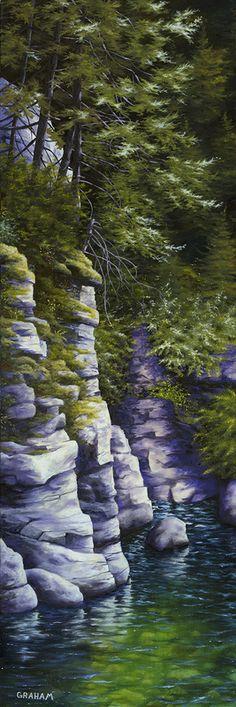 Erosion Canvas - Studio wrap 3/4 Oil Paintings Contemporary Landscape Representational Rural, by Graham McKenzie