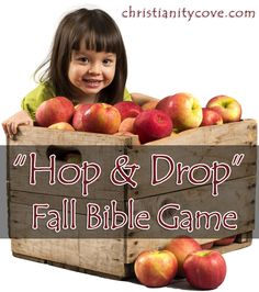 "Fall Bible Game: Apple Harvest ""Hop & Drop"" This fall Bible game will teach students about how the colors of autumn are symbols found in the Bible. Students will race to match the scriptures with the color that best represents it."