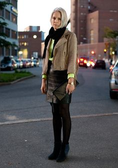 ACNE + leather. Silja - Hel Looks - Street Style from Helsinki