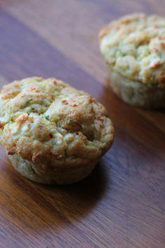 Savoury muffins: feta, courgette & chilli