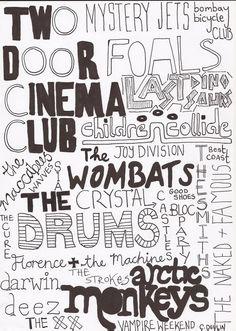 Two Door Cinema Club, Arctic Monkeys, The Wombats, The Vampire Weekend Sound Of Music, Kinds Of Music, Music Is Life, Good Music, My Music, Music Film, Indie Music, Mystery Jets, Two Door Cinema Club