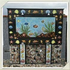 Docce esterne piscina in pietra lavica decorata a mano