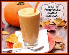 Low-Calorie Pumpkin Pie Malted Milkshake