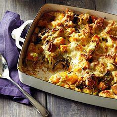Farm-to-feast Thanksgiving | Wild mushroom and butternut squash bread pudding | Sunset.com #SunsetTurkeyDay
