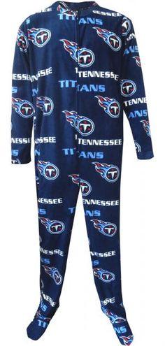WebUndies.com Tennessee Titans Mens One Piece Footie Pajama