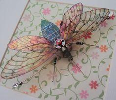 Lucky Jade Circuit Board Moth by DewLeaf on Etsy, £70.00