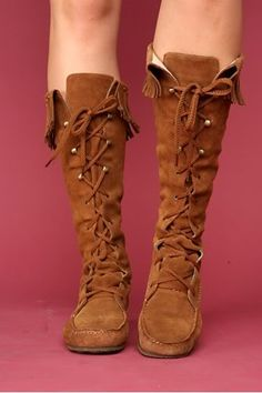 Moccasin boots. I need these, like now