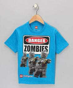 Take a look at this Blue LEGO MiniFigures 'Danger Zombies' Tee - Kids by LEGO on #zulily today!