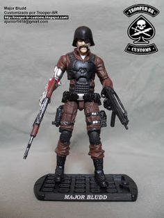 Gi joe Custom Action Figures: Major Bludd 30th