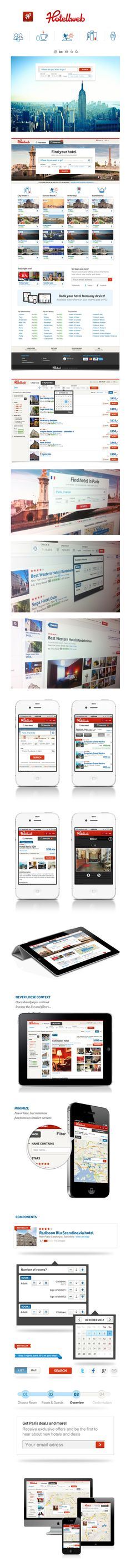 Hotellweb.no on the Behance Network