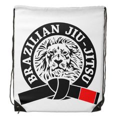 Brazilian Jiu-Jitsu (Gym Bag) Black Belt Drawstring Bag