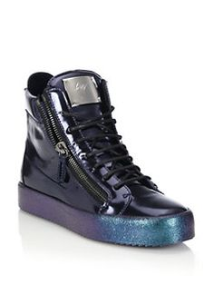 Giuseppe Zanotti - Double-Zip Pearlized High-Top Sneakers Saks Fifth  Avenue, Baskets a01d8a1f860