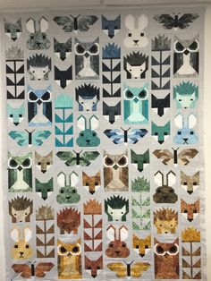 Fancy Forest Quilting Projects, Quilting Designs, Sewing Projects, Elizabeth Hartman Quilts, Modern Quilt Blocks, Sampler Quilts, Animal Quilts, Crochet Quilt, Stuffed Animal Patterns