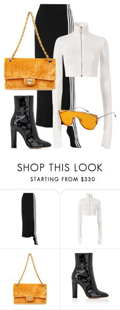 """Untitled #46"" by be-marta ❤ liked on Polyvore featuring Y-3, Off-White, Gentle Monster and Gianvito Rossi"