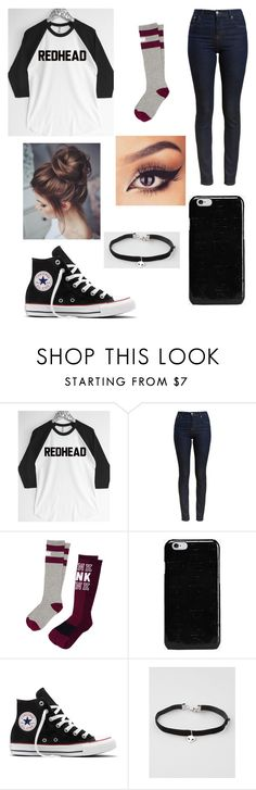 """Untitled #713"" by myatrombley ❤ liked on Polyvore featuring Barbour, Victoria's Secret PINK, Maison Margiela, Converse and Full Tilt"