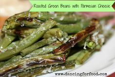 roasted green beans with fresh parmesan