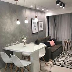 Home Decoration Living Room Small Apartment Interior, Condo Interior, Small Apartment Living, Condo Living, Home Interior Design, Home And Living, Small Apartment Decorating, Small Apartments, Modern Living