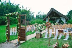 Cerimônia ao ar livre - Casamento Vintage