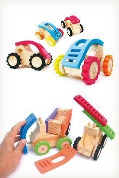 Juguetes rodantes de madera y goma eva de Monoblock Juguetes, distinguidos con el Sello de Buen Diseño 2013.