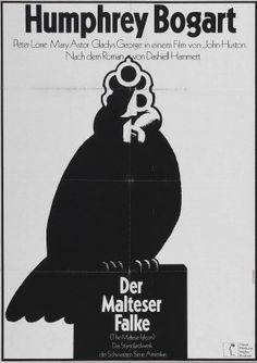german maltese falcon poster