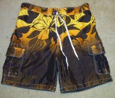Merina, Men's Swimming Shorts. Size XL.  Floral Design #Merona #SwimmingBeachPool