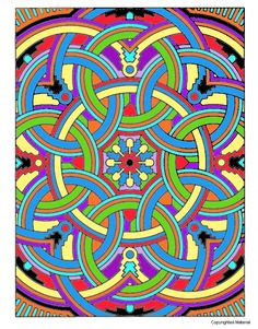"""Deco Tech Geometric Coloring Book, Dover Publications.  There is a coloring page of this on my other board """"Blank Coloring Pages."""""""