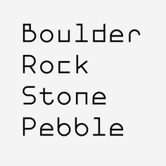 Follow the studio's commercial typeface development exclusively at @formistfoundry. #FormistFoundry #BoulderFont #typeface #typedesign #font