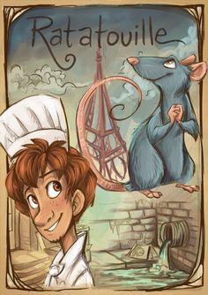 Pixar Drawing Disney - Ratatouille fan art by - Walt Disney, Disney Pixar, Disney Animation, Disney And Dreamworks, Disney Magic, Disney Characters, Disney Cruise, Disney Artwork, Disney Fan Art