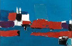 Nicolas de Staël, Méditerranée, Le Lavandou, oil on canvas, 25 by 31 inches Abstract Landscape Painting, Landscape Paintings, Abstract Art, Michael Borremans, Chaim Soutine, Infinite Art, Gustave Courbet, Georges Braque, Rembrandt