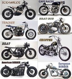 Like scrambler, Tracker and Cafe racer
