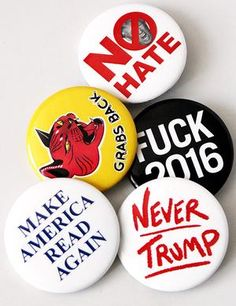 Anti-Trump Button Combo ( 5 Pack) Clothing