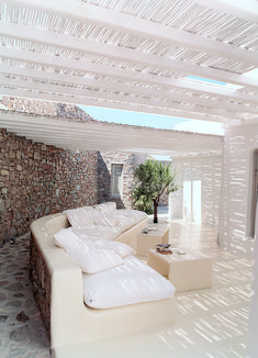white painted bamboo outdoor area - Google Search