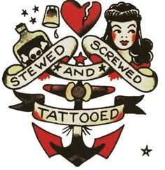 Stewed Screwed And Tattooed, Sailor Jerry, T Shirt Design, Rockabilly, Psychobilly, Vulture Graffix, Tattoo Design http://vulturegraffix.onlineshirtstores.com/