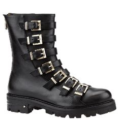 Cesare Paciotti biker boots with buckles and profiled sole. From Wunderl in Austria.