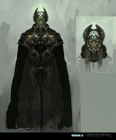 Concept art from Chronicles of Riddick. This is very close to what the voidwalker emperor will look like!